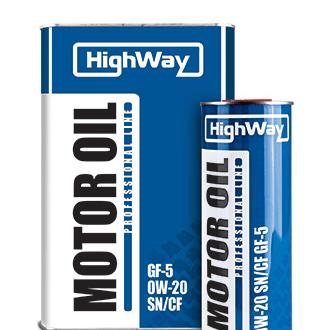 Синтетическое моторное масло HighWay 0W-20 SN/CF