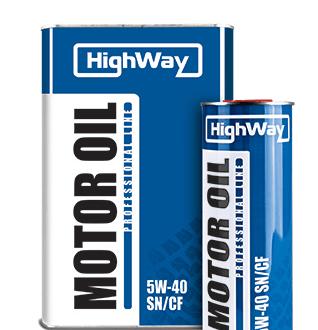 Синтетическое моторное масло HighWay 5W-40 SN/CF